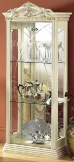 Camel Rossella Italian China Cabinet - 1 Door