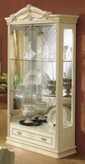 Camel Rossella Italian China Cabinet - 2 Door