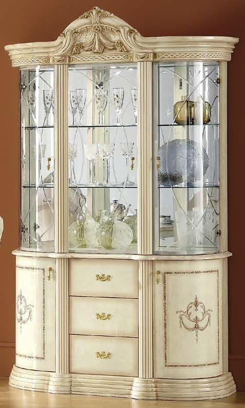 Camel Rossella Italian China Cabinet - 3 Door