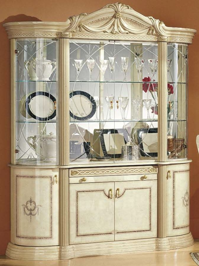 Camel Rossella Italian China Cabinet - 4 Door
