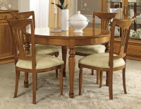Camel Siena Day Cherry Italian 120cm Round Extending Dining Table