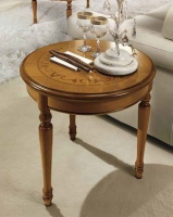 Camel Siena Day Cherry Italian Round Lamp Table