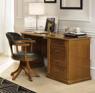 Camel Siena Day Cherry Italian 4 Drawer Premium Writing Desk