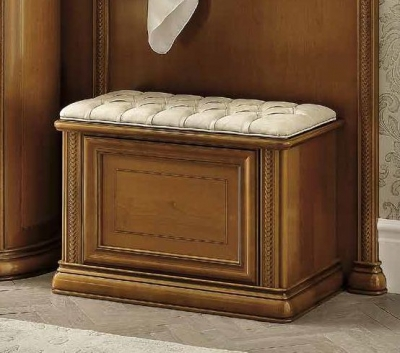 Camel Siena Day Cherry Italian Chest Bench with Cushion