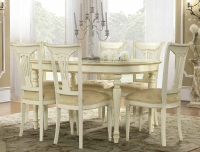 Camel Siena Day Ivory Italian 160cm Oval Extending Dining Table