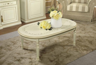 Camel Siena Day Ivory Italian Coffee Table
