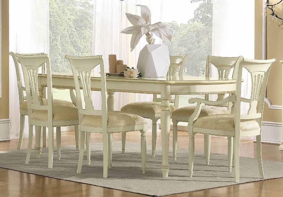Camel Siena Day Ivory Italian 200cm Rectangular Extending Dining Table