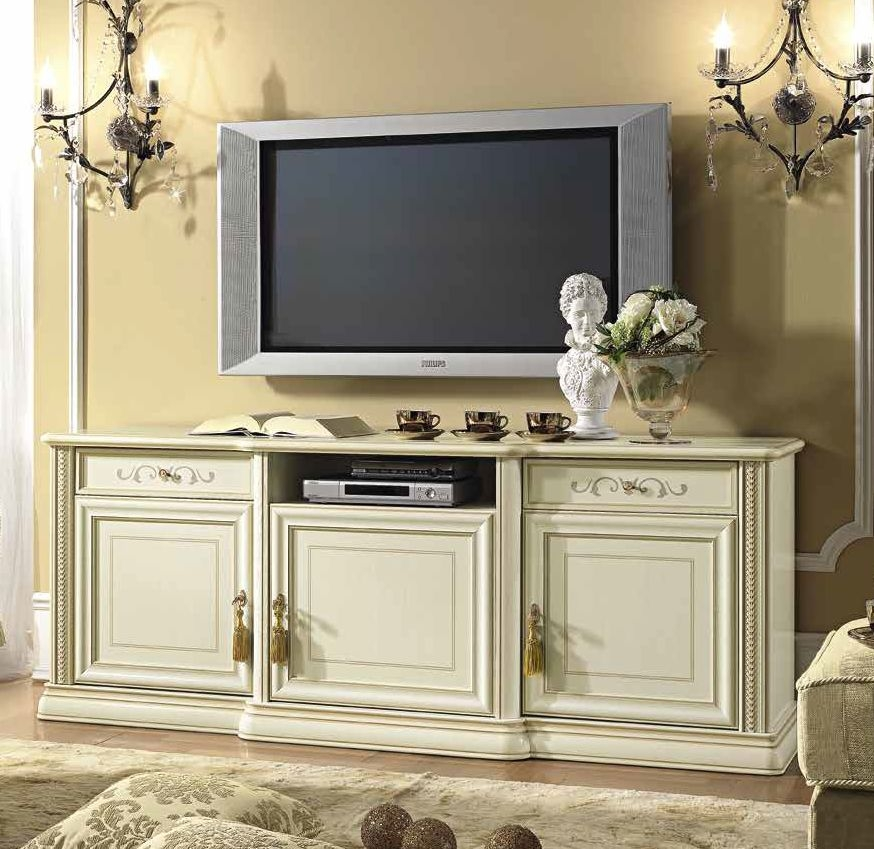 Camel Siena Day Ivory Italian Large TV Cabinet