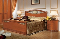 Camel Siena Night Ferro Cherry Italian 5ft King Size Bed with Footboard