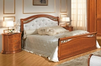 Camel Siena Night Medallion Cherry Italian 5ft King Size Bed with Footboard