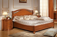 Camel Siena Night legno Cherry Italian 5ft King Size Ring Bed