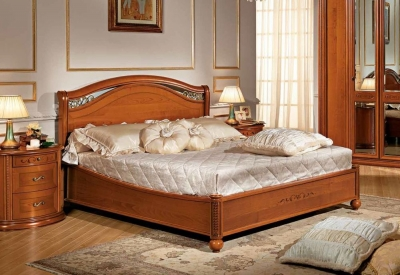 Camel Siena Night Cherry Wood Italian 6ft Queen Size Legno Ring Bed