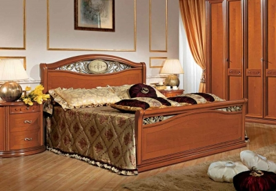 Camel Siena Night Cherry Wood Italian Ferro Bed with Footboard