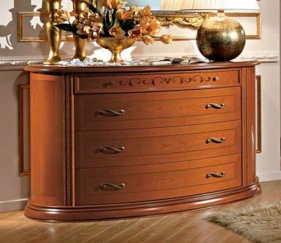 Camel Siena Night Cherry Italian 4 Drawer Dresser