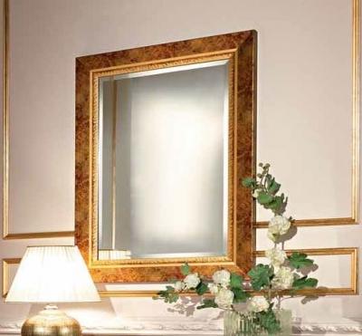 Camel Siena Night Cherry Italian Rectangular Gold Leaf Mirror - 73cm x 3cm