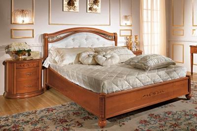 Camel Siena Night Medallion Cherry Italian 5ft King Size Ring Bed