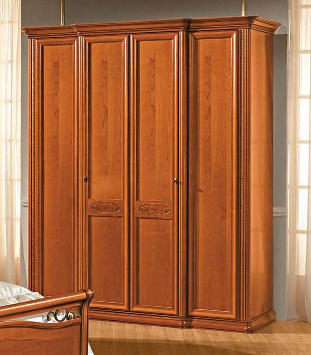 4459be2e8da0 Buy Camel Siena Night Cherry Italian 4 Door Wardrobe Online - CFS UK