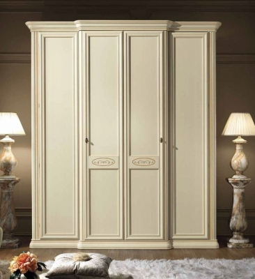 Camel Siena Night Ivory Italian 4 Door Wardrobe