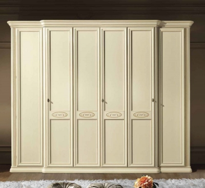 Camel Siena Night Ivory Italian 6 Door Wardrobe