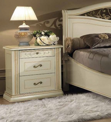 Camel Siena Night Ivory Italian Arena Bedside Cabinet