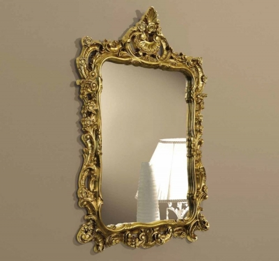 Camel Siena Night Ivory Italian Gold Mirror - 71cm x 105.5cm