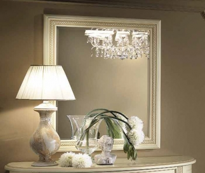 Camel Siena Night Ivory Italian Rectangular Mirror - 88cm x 105cm