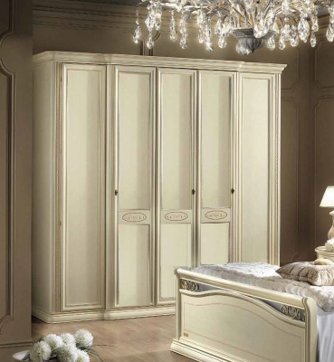 Camel Siena Night Ivory Italian 5 Door Wardrobe