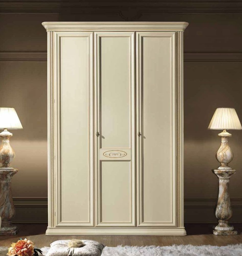 Camel Siena Night Ivory Italian 3 Door Wardrobe