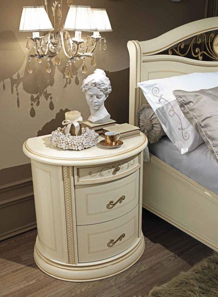 Camel Siena Night Ivory Italian Bedside Cabinet