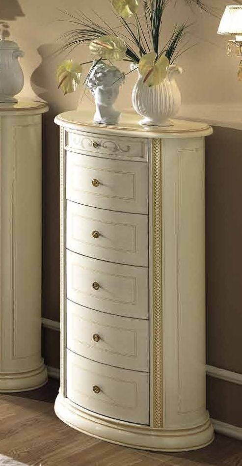 Camel Siena Night Ivory Italian 6 Drawer Chest