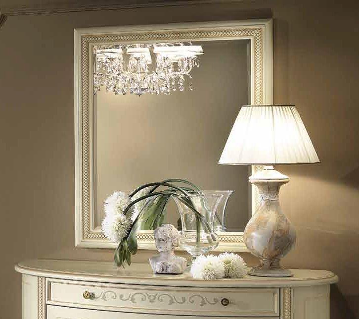 Camel Siena Night Ivory Italian Rectangular Mirror - 88cm x 4cm