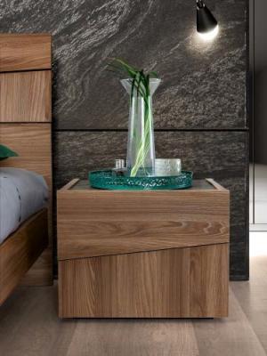 Camel Storm Night Wooden Italian Bedside Cabinet