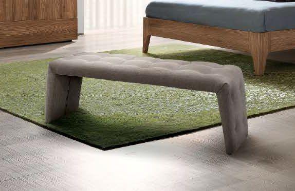 Camel Storm Night Italian Bedroom Bench