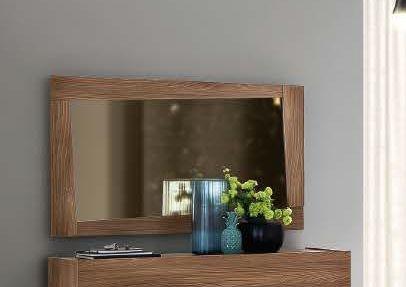 Camel Storm Night Wooden Italian Mirror - 130cm x 80cm
