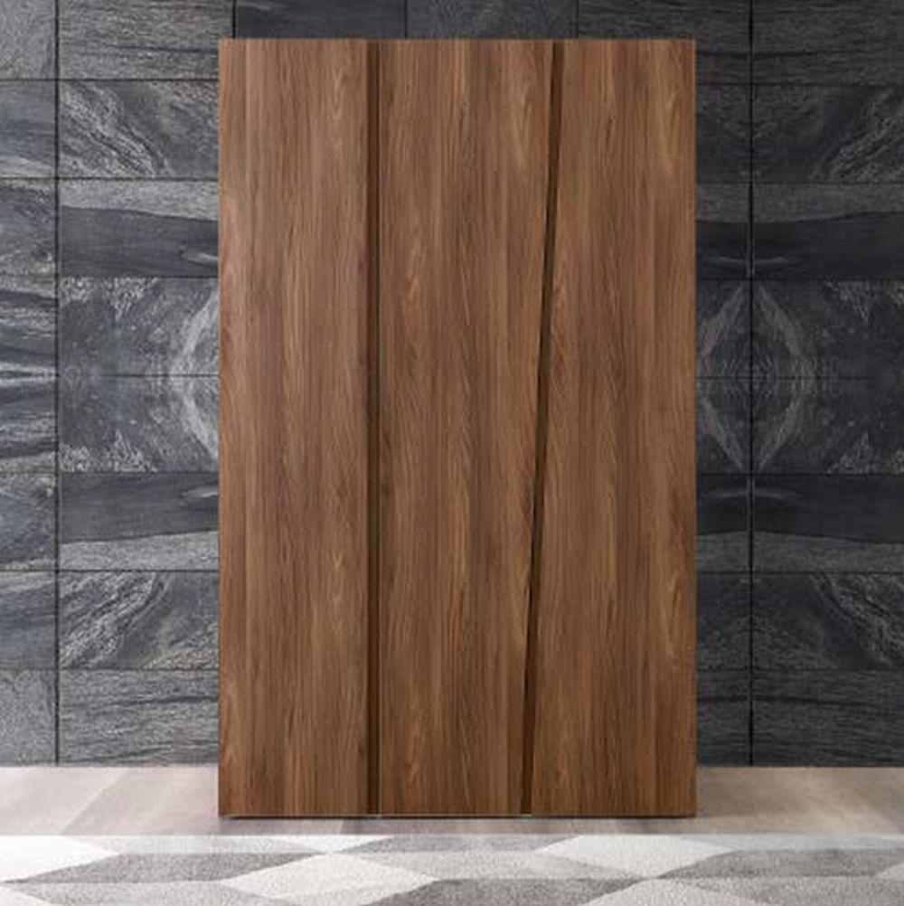 Camel Storm Night Wooden Italian 3 Door Wardrobe