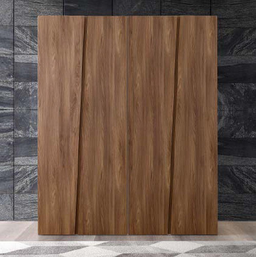 Camel Storm Night Wooden Italian 4 Door Wardrobe