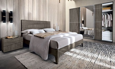 Camel Tekno Night Silver Birch Italian Bed