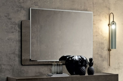 Camel Tekno Night Silver Birch Italian Rectangular Mirror - 120cm x 90cm