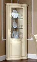 Camel Torriani Day Ivory Italian 1 Glass Door Corner Unit