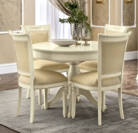 Camel Torriani Day Ivory Italian 110cm Round Extending Dining Table