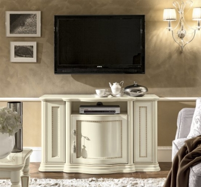 Camel Torriani Day Ivory Italian TV Cabinet