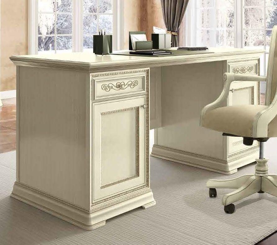 Camel Torriani Day Ivory Italian 2 Door 2 Drawer Writing Desk