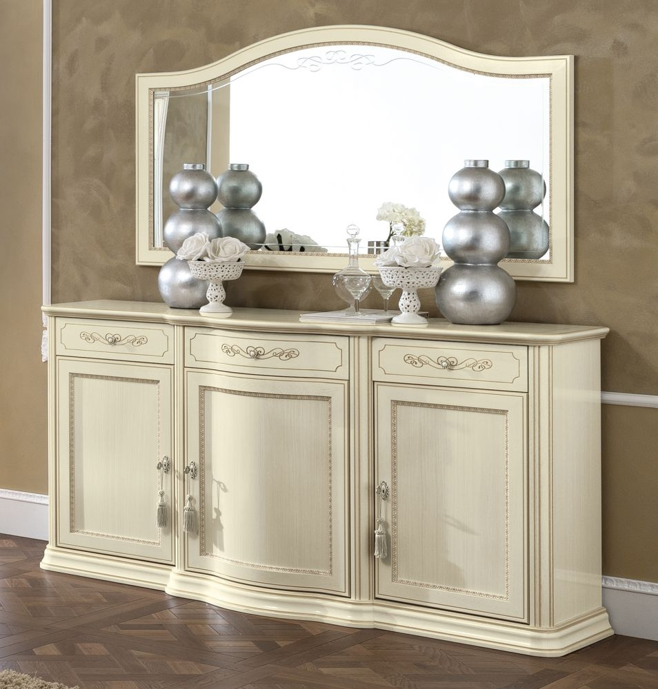 Camel Torriani Day Ivory Italian Buffet Sideboard