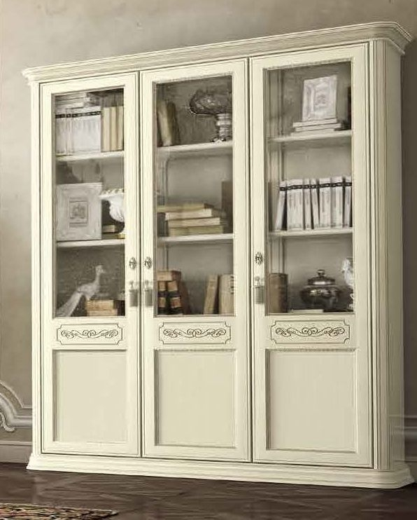 Camel Torriani Day Ivory Italian 3 Door Bookcase