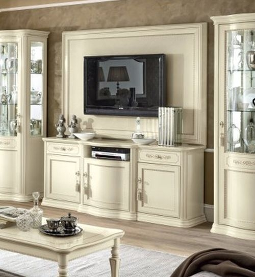Camel Torriani Day Ivory Italian Large TV Cabinet