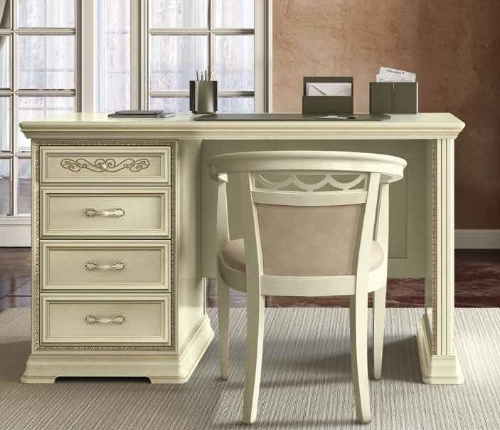 Camel Torriani Day Ivory Italian 4 Drawer Writing Desk