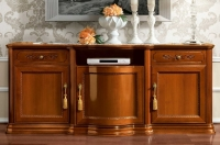 Camel Torriani Day Walnut Italian 3 Door 2 Drawer Maxi TV Cabinet