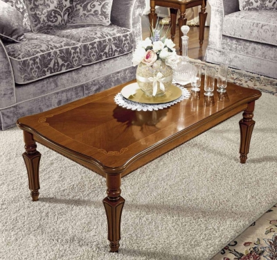 Camel Torriani Day Walnut Italian Coffee Table