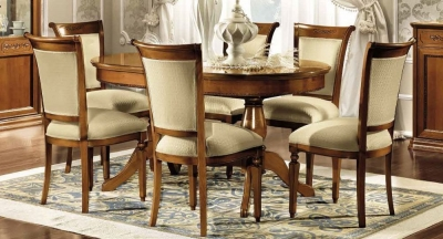 Camel Torriani Day Walnut Italian Oval Extending Dining Table