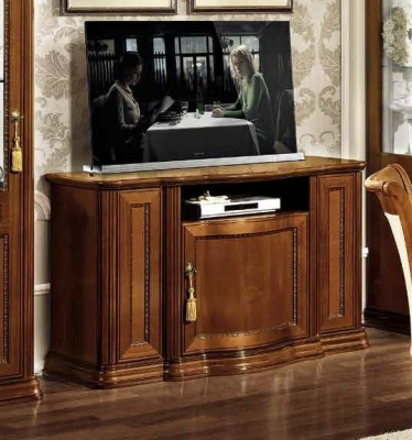 Camel Torriani Day Walnut Italian TV Cabinet